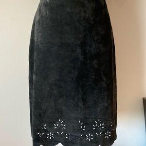 Siena Studio Skirts - Genuine leather black suede skirt size 8